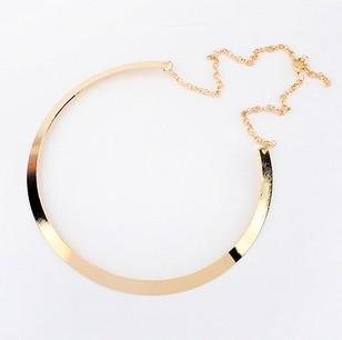 18K Gold Plated High-Quality Texture Collar Necklace