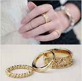 New 3pcs. 18k Gold plated Rings