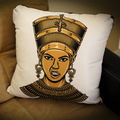 Queen White Square Pillow