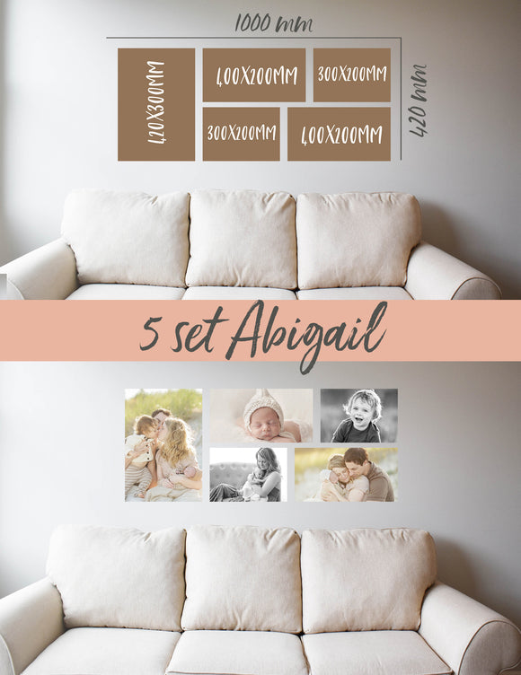 Story Wall Collage | 5 Set | Abigail Set