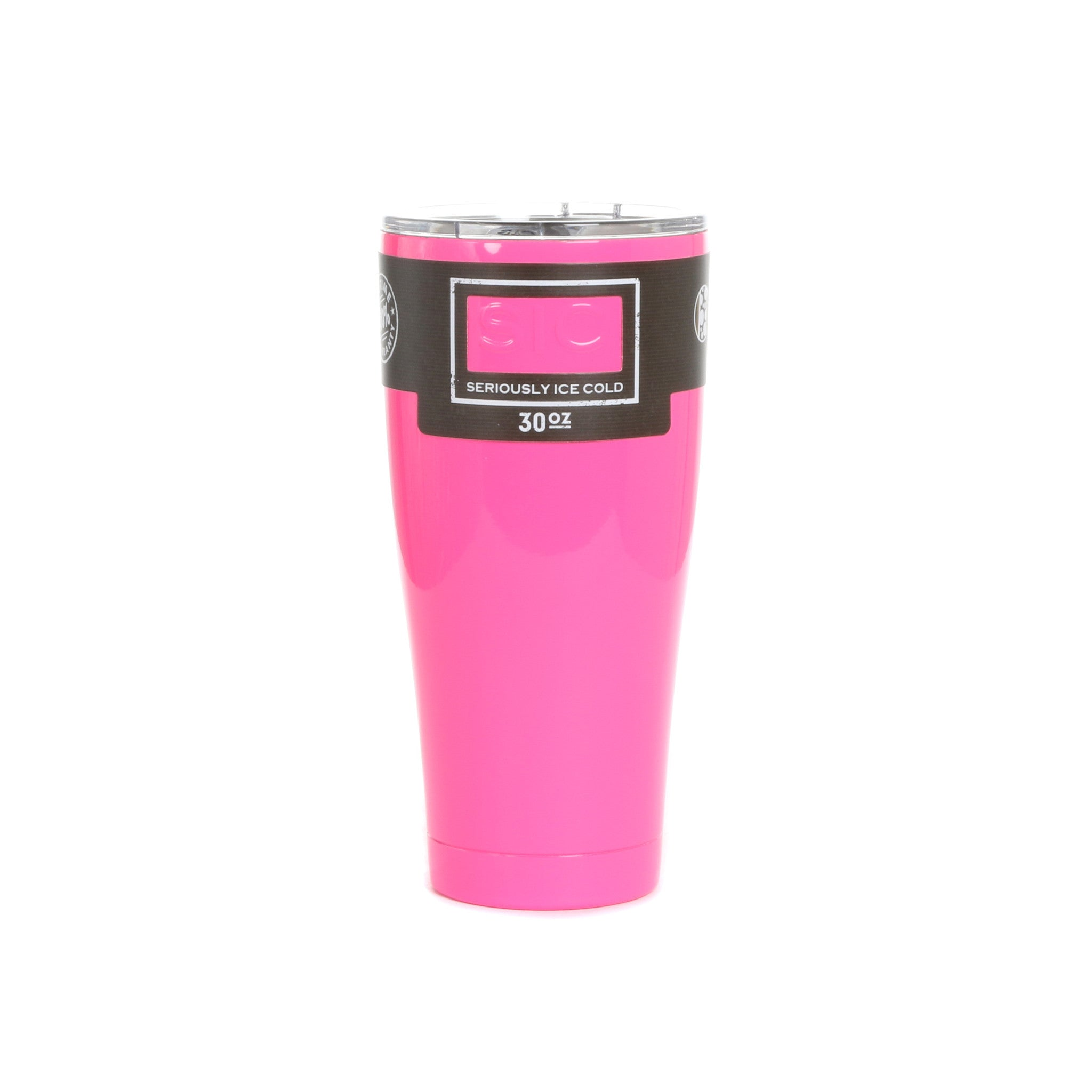 30 Oz. Hot Pink SIC Cup with SIC Unbreakable/Splashproof Lid