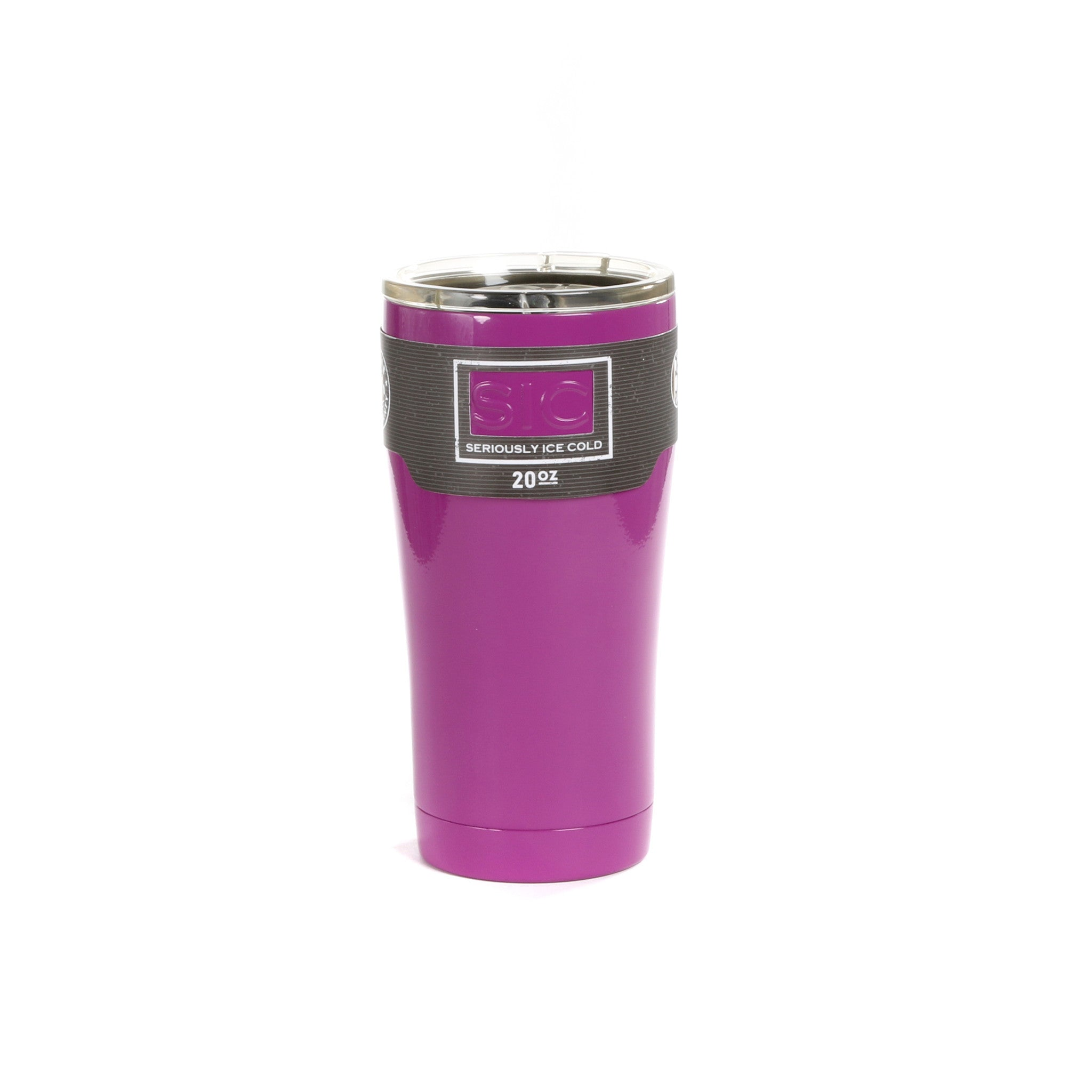 New & Improved Design 20 Oz. Violet  SIC Cup with SIC Unbreakable/Splashproof Lid