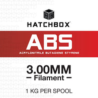 —WHITE— HATCHBOX 3D ABS-1KG3.00-WHT ABS 3D Printer Filament, 1 kg Spool, 3.00 mm
