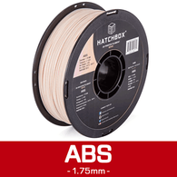 —BEIGE— HATCHBOX 3D ABS-1KG1.75-720C ABS 3D Printer Filament, 1 kg Spool, 1.75 mm