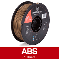 —COPPER— HATCHBOX 3D ABS-1KG1.75-COPR ABS 3D Printer Filament, 1 kg Spool, 1.75 mm