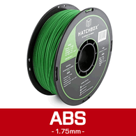 —GREEN— HATCHBOX 3D ABS-1KG1.75-GRN ABS 3D Printer Filament, 1 kg Spool, 1.75 mm