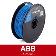 —LIGHT BLUE— HATCHBOX 3D ABS-1KG1.75-285C ABS 3D Printer Filament, 1 kg Spool, 1.75 mm