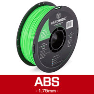 —NEON GREEN— HATCHBOX 3D ABS-1KG1.75-802C ABS 3D Printer Filament, 1 kg Spool, 1.75 mm