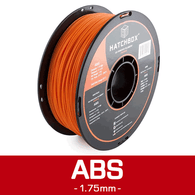 —ORANGE— HATCHBOX 3D ABS-1KG1.75-ORN ABS 3D Printer Filament, 1 kg Spool, 1.75 mm