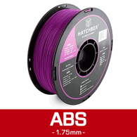 —PURPLE— HATCHBOX 3D ABS-1KG1.75-PUR ABS 3D Printer Filament, 1 kg Spool, 1.75 mm