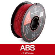 —RED— HATCHBOX 3D ABS-1KG1.75-RED ABS 3D Printer Filament, 1 kg Spool, 1.75 mm