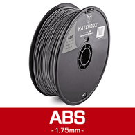 —SILVER— HATCHBOX 3D ABS-1KG1.75-SLV ABS 3D Printer Filament, 1 kg Spool, 1.75 mm