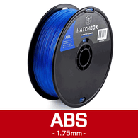 —TRANSPARENT BLUE— HATCHBOX 3D ABS-1KG1.75-TBLU ABS 3D Printer Filament, 1 kg Spool, 1.75 mm