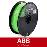 —TRANSPARENT GREEN— HATCHBOX 3D ABS-1KG1.75-TGRN ABS 3D Printer Filament, 1 kg Spool, 1.75 mm