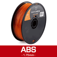 —TRANSPARENT ORANGE— HATCHBOX 3D ABS-1KG1.75-TORN ABS 3D Printer Filament, 1 kg Spool, 1.75 mm