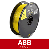 —TRANSPARENT YELLOW— HATCHBOX 3D ABS-1KG1.75-TYLW ABS 3D Printer Filament, 1 kg Spool, 1.75 mm