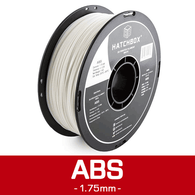 —WHITE— HATCHBOX 3D ABS-1KG1.75-WHT ABS 3D Printer Filament, 1 kg Spool, 1.75 mm