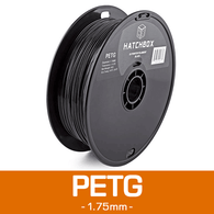—BLACK— HATCHBOX 3D PETG-1KG1.75-BLK PETG 3D Printer Filament, 1 kg Spool, 1.75 mm