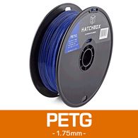 —BLUE— HATCHBOX 3D PETG-1KG1.75-BLU PETG 3D Printer Filament, 1 kg Spool, 1.75 mm