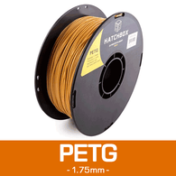 —GOLD— HATCHBOX 3D PETG-1KG1.75-GLD PETG 3D Printer Filament, 1 kg Spool, 1.75 mm