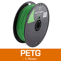 —GREEN— HATCHBOX 3D PETG-1KG1.75-GRN PETG 3D Printer Filament, 1 kg Spool, 1.75 mm