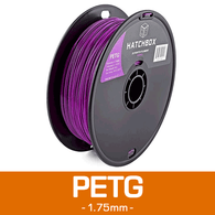 —PURPLE— HATCHBOX 3D PETG-1KG1.75-PUR PETG 3D Printer Filament, 1 kg Spool, 1.75 mm
