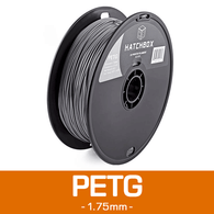 —SILVER— HATCHBOX 3D PETG-1KG1.75-SLV PETG 3D Printer Filament, 1 kg Spool, 1.75 mm