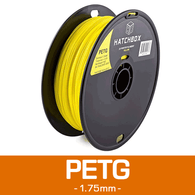 —YELLOW— HATCHBOX 3D PETG-1KG1.75-YLW PETG 3D Printer Filament, 1 kg Spool, 1.75 mm