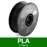 —BLACK— HATCHBOX 3D PLA-1KG1.75-BLK PLA 3D Printer Filament, 1 kg Spool, 1.75 mm