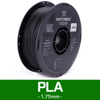 —CARBON PLA— HATCHBOX 3D CARBON PLA-1KG1.75 3D Printer Filament, 1 kg Spool, 1.75 mm