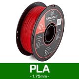 —RED— HATCHBOX 3D PLA-1KG1.75-RED PLA 3D Printer Filament, 1 kg Spool, 1.75 mm