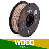 —WOOD— HATCHBOX 3D WOOD-1KG1.75 3D Printer Filament, 1 kg Spool, 1.75 mm