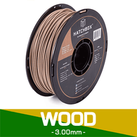 —WOOD— HATCHBOX 3D WOOD-1KG3.00 3D Printer Filament, 3.00 mm, 1 kg Spool