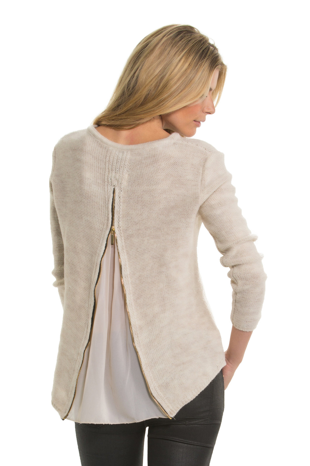 Elan Zip Back Sweater