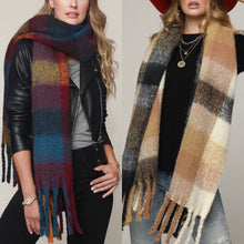 Multi Color Fleece Scarf