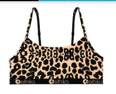 Ethika Leopard Print Pullover Top/bra
