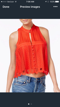 Free People Crochet Swing Blouse also Red
