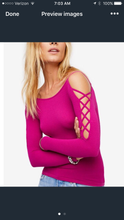 Free People Cutout Sleeve Top also Hot Pink