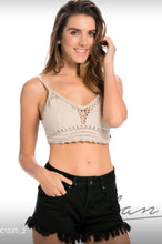 Elan Crochet Bra also Black