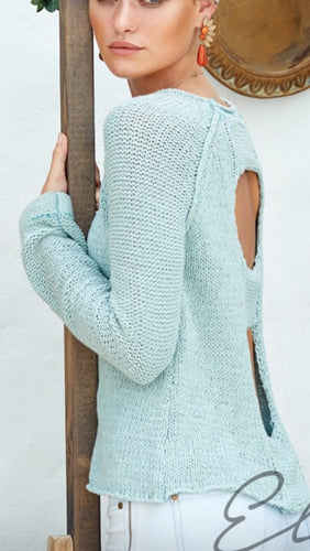Elan Open Back Sweater