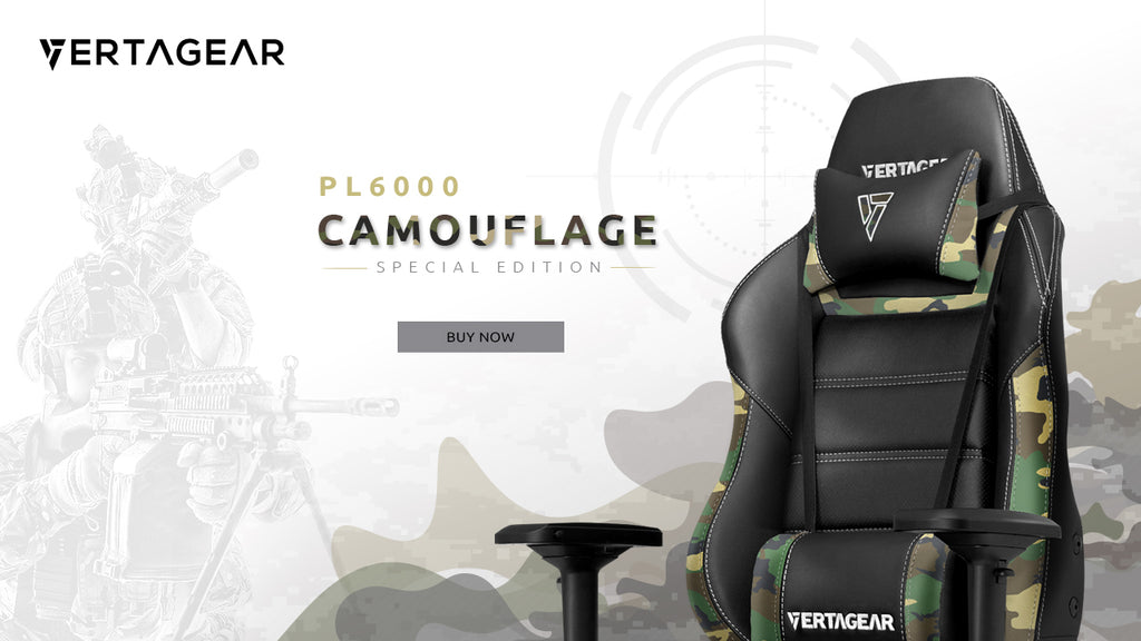 Vertagear Pl6000 Camouflage Special Edition Gaming Chair