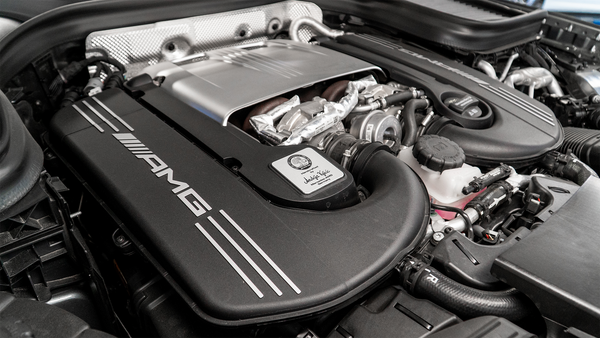 Tune AMG CLS63 engine twin turbo by VF Engineering and HEX Tuning