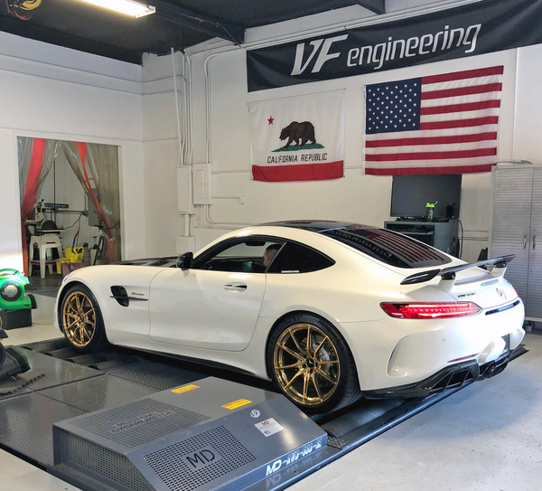 tuned amg gtr gt mercedes on the dyno