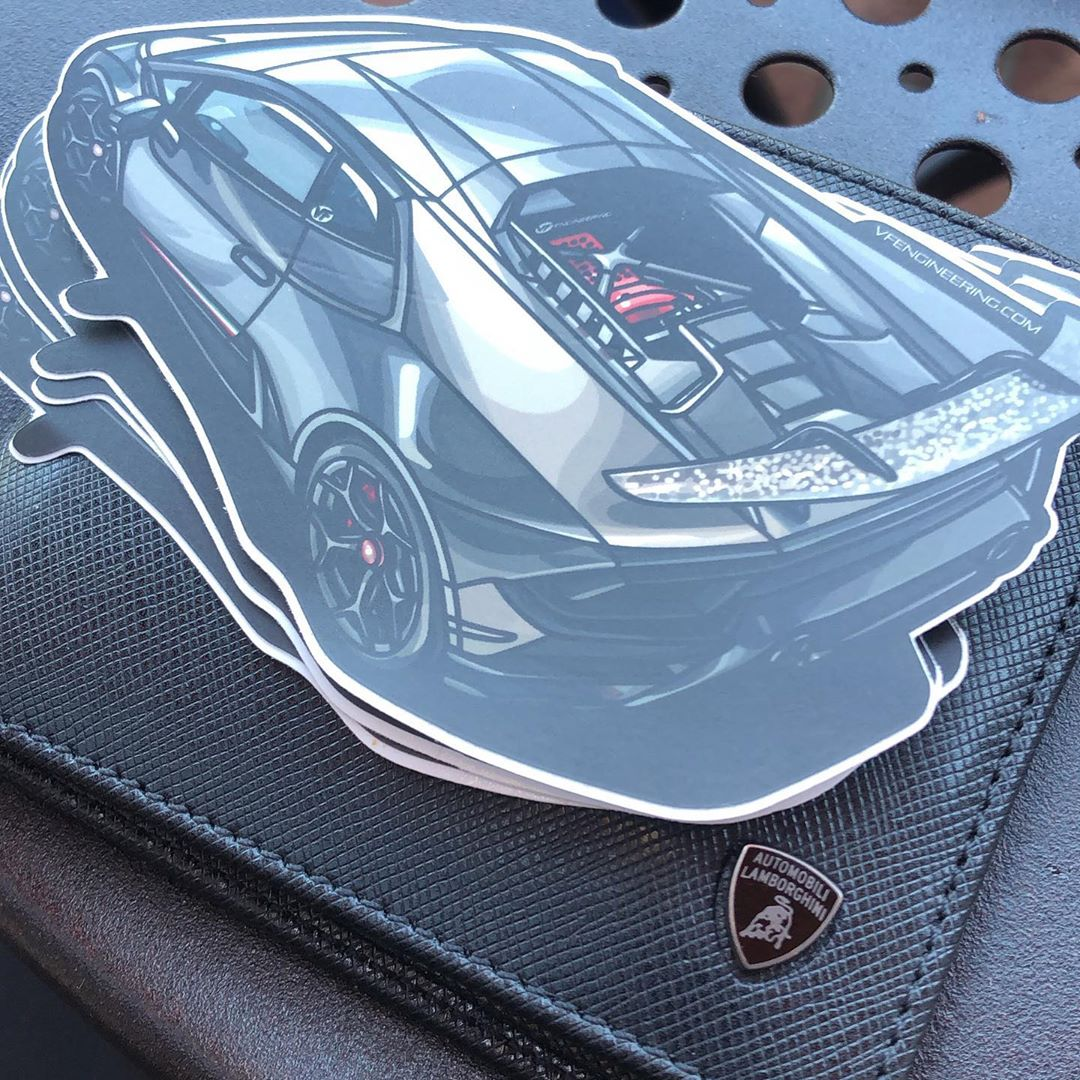 VF Lambo Sticker - Cartoon Sticker