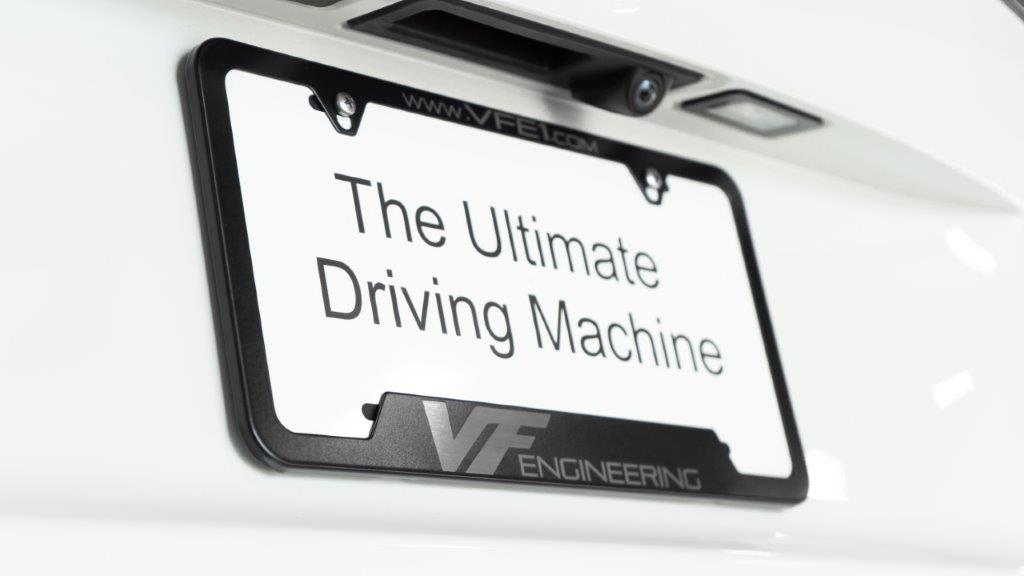 VF Engineering Metal License Plate Frame - Black