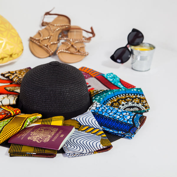 African print passport holder
