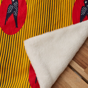 African print throw - Yellow Red Bird Throw