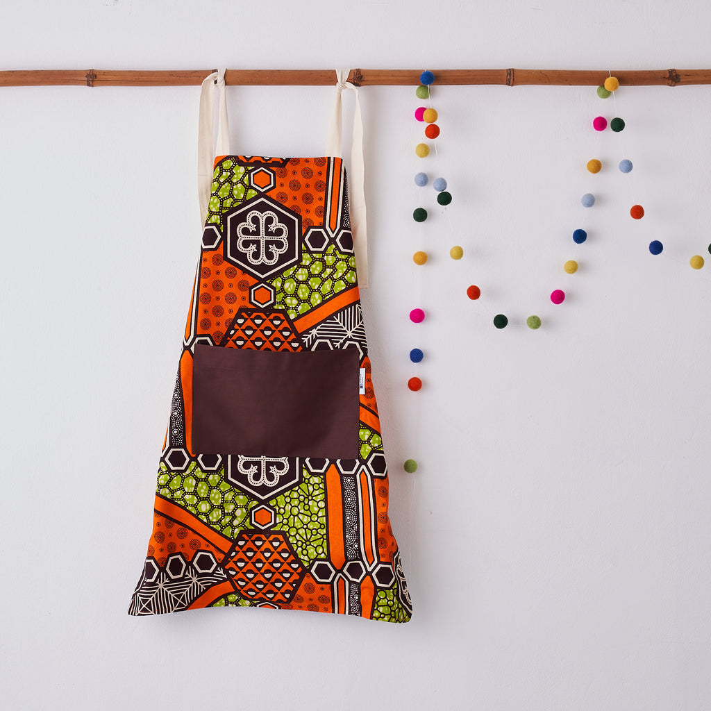 Children's apron - Green Nyame
