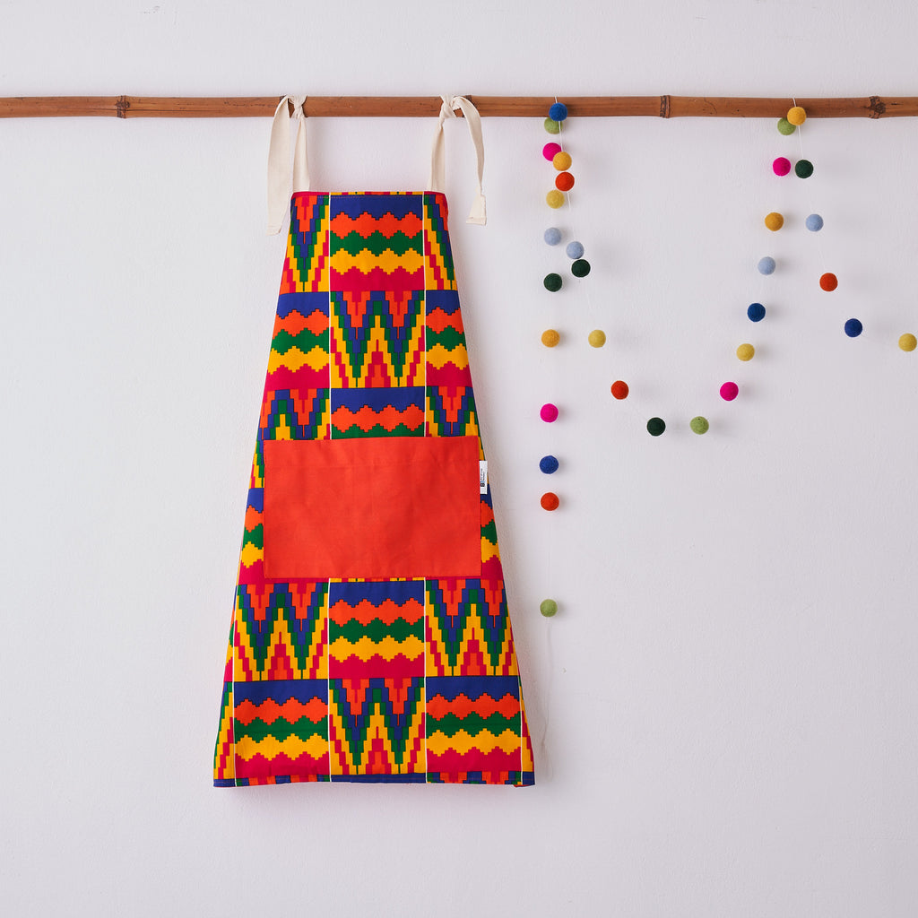 Children's apron - Rainbow Kente