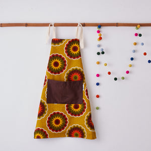 Children's apron - Yellow Florettes